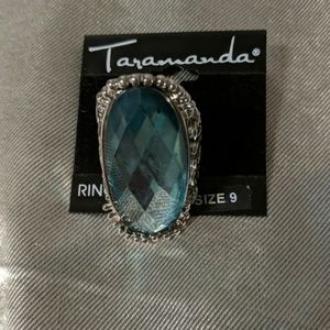 Gorgeous sea blue colored ring sz 9